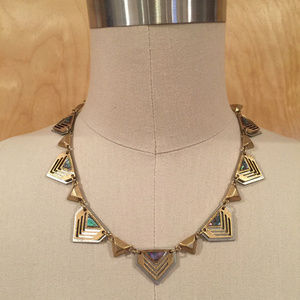 Madewell Abalone Shell Chevron Necklace